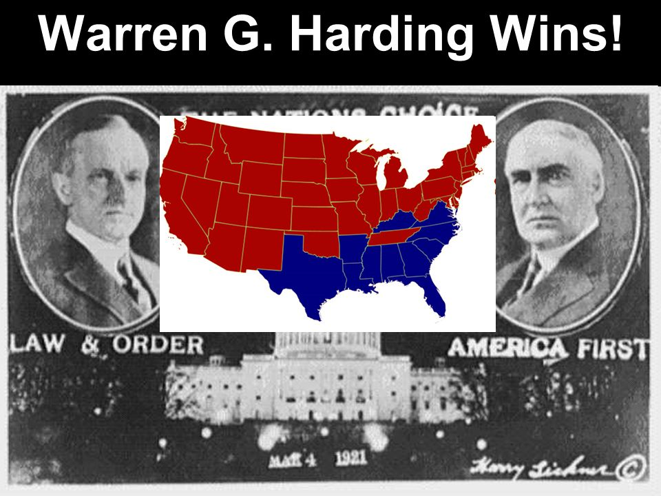 Warren G. Harding Wins!