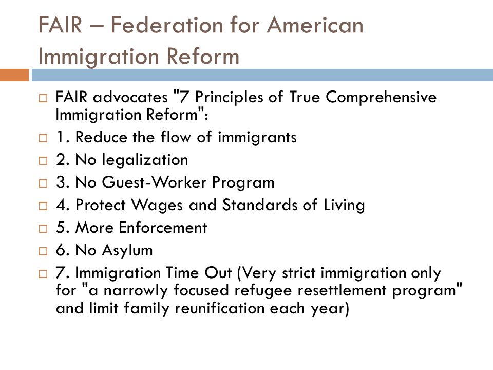 FAIR – Federation for American Immigration Reform