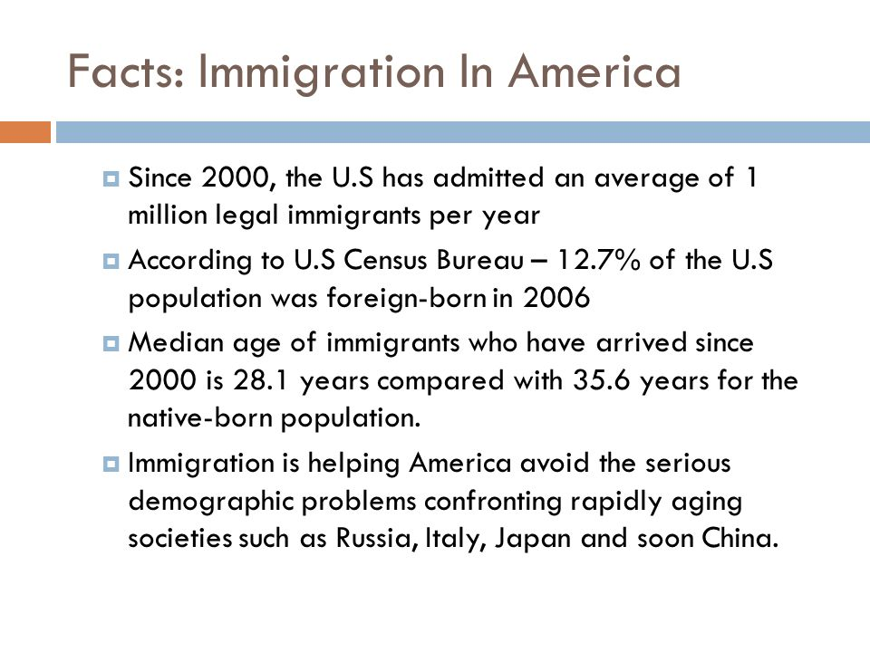 Facts: Immigration In America