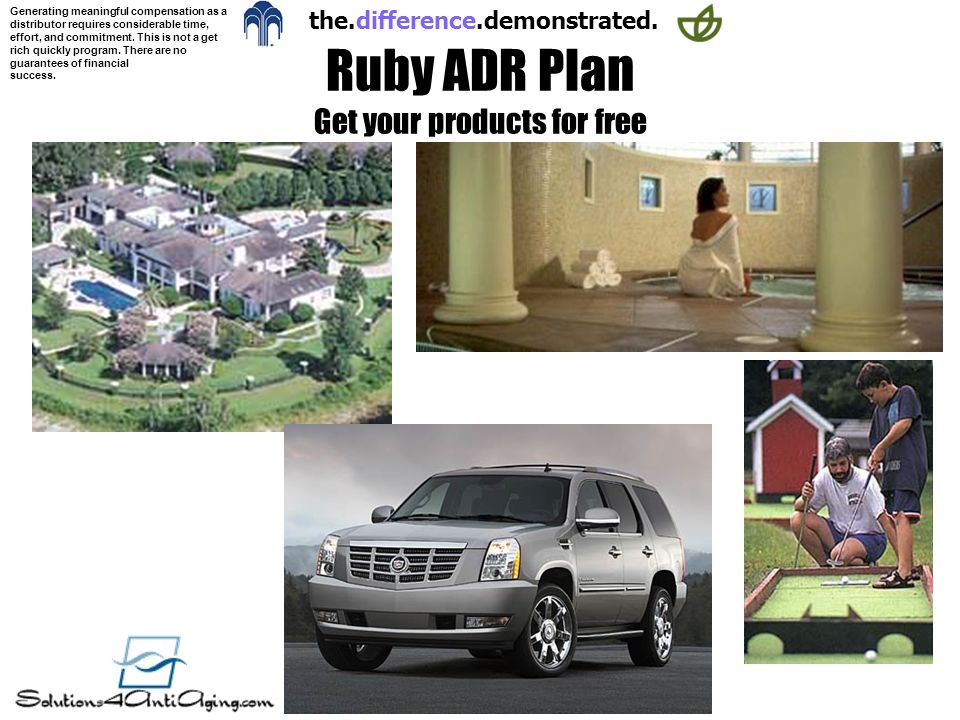 Ruby ADR Plan Get your products for free
