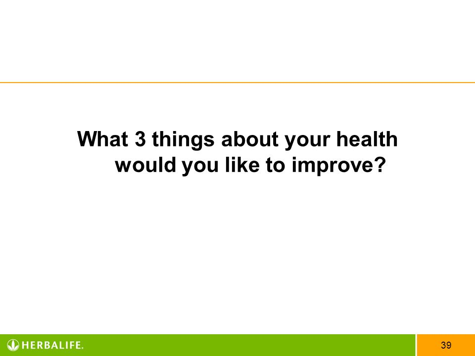 What 3 things about your health would you like to improve