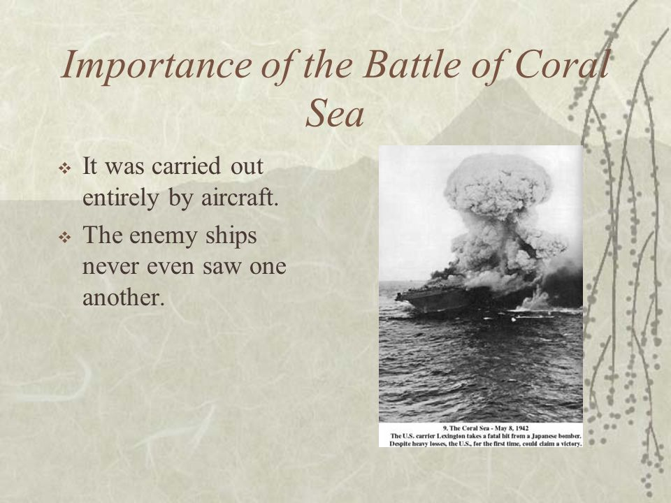 Importance of the Battle of Coral Sea