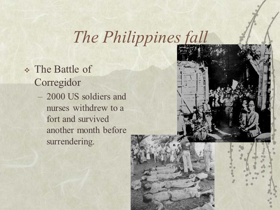 The Philippines fall The Battle of Corregidor