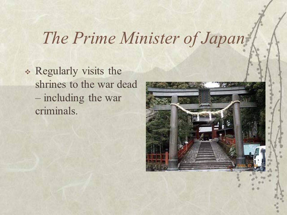 The Prime Minister of Japan