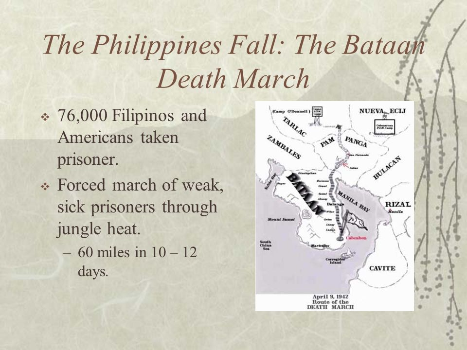 The Philippines Fall: The Bataan Death March