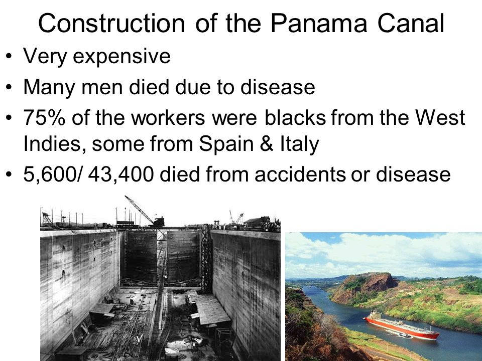 Construction of the Panama Canal