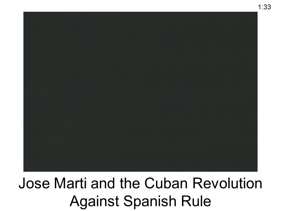 Jose Marti and the Cuban Revolution Against Spanish Rule