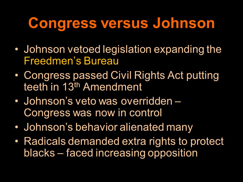 Congress versus Johnson