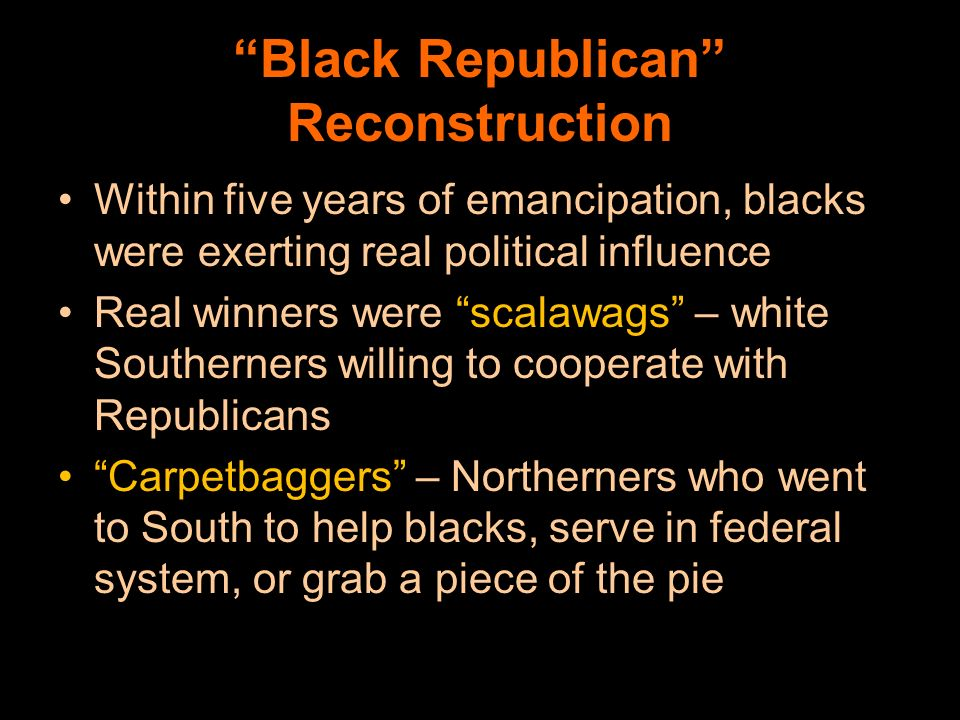 Black Republican Reconstruction
