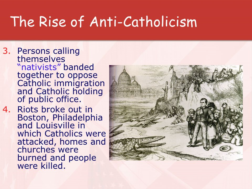 The Rise of Anti-Catholicism