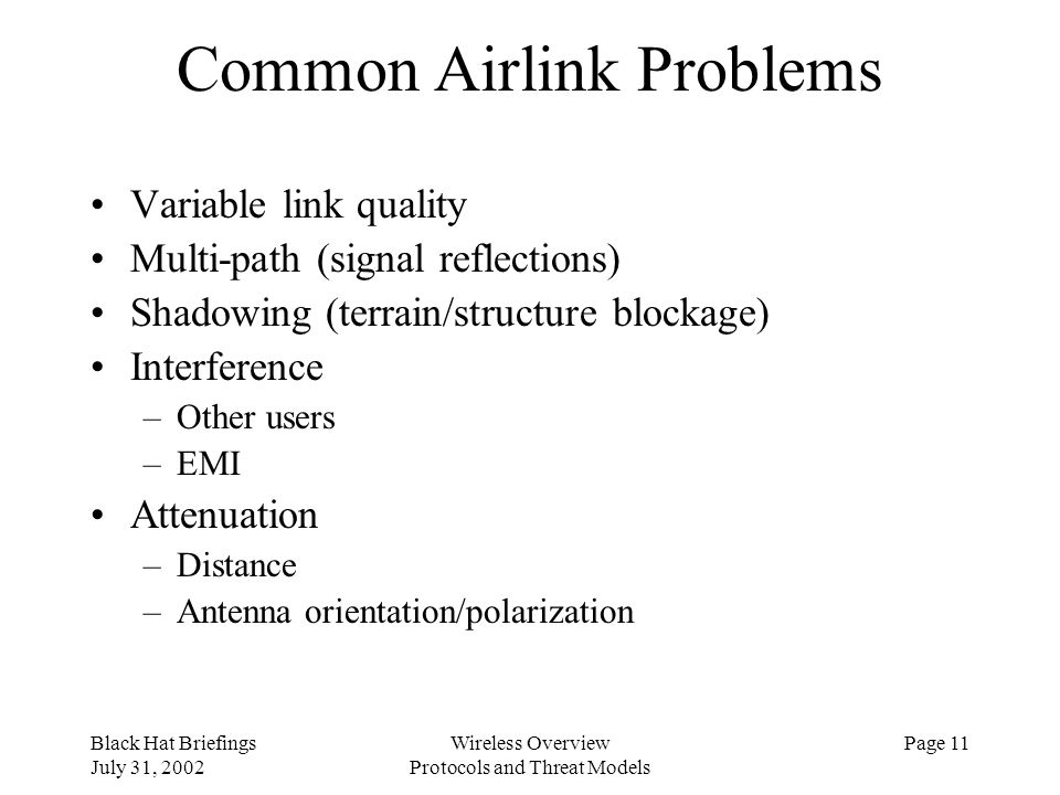 Common Airlink Problems
