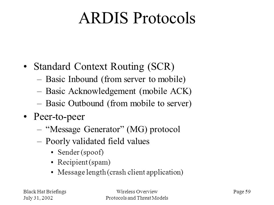 Protocols and Threat Models