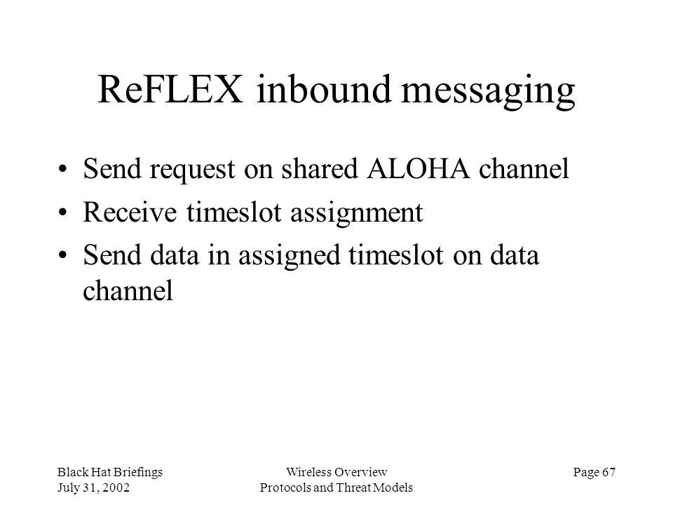 ReFLEX inbound messaging