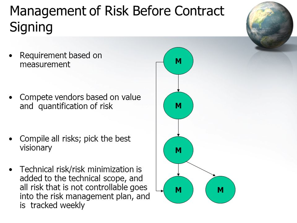 Management of Risk Before Contract Signing