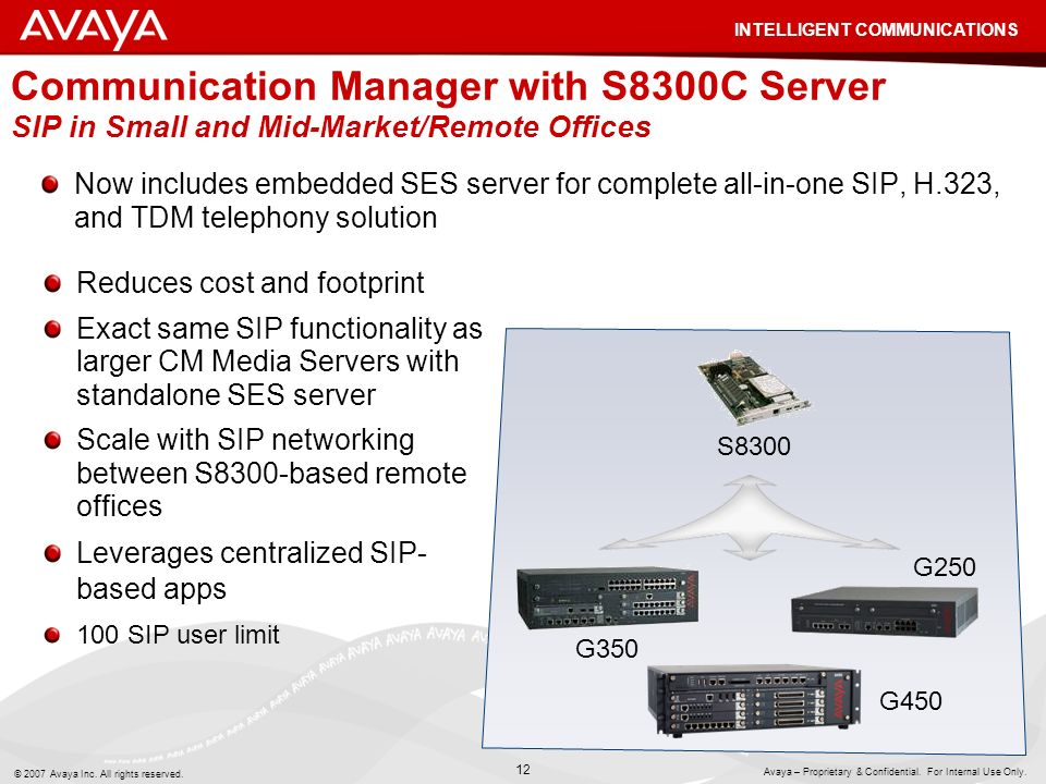 Communication Manager with S8300C Server SIP in Small and Mid-Market/Remote Offices