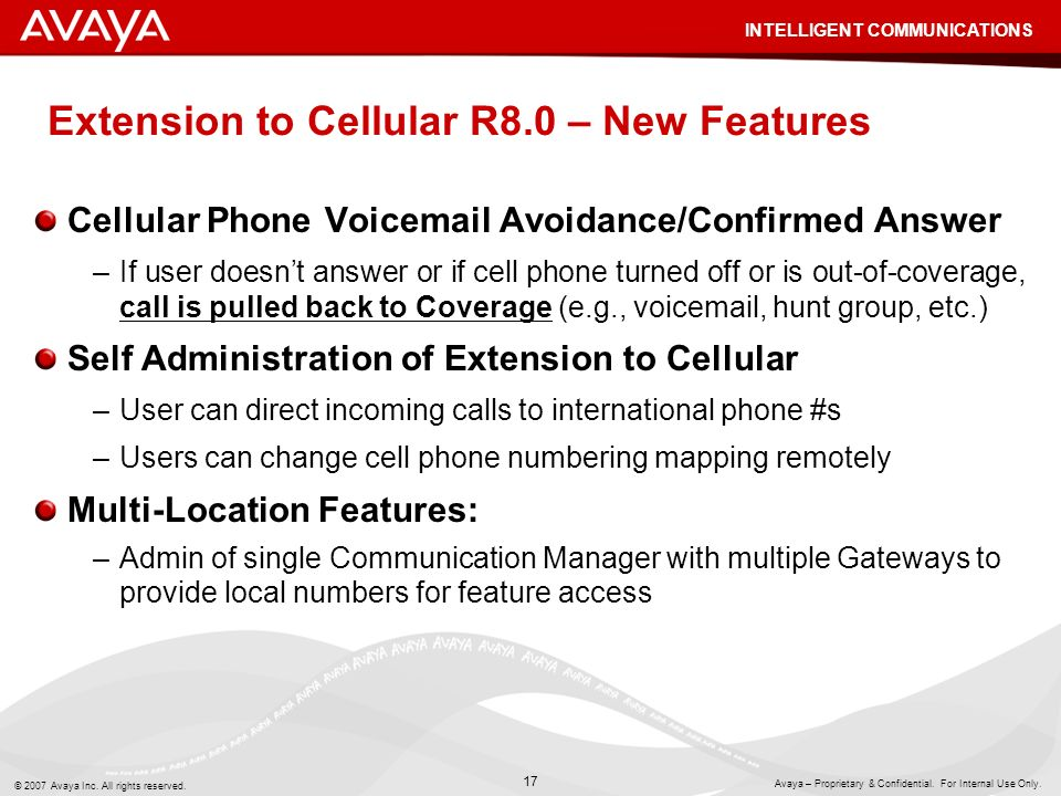 Extension to Cellular R8.0 – New Features