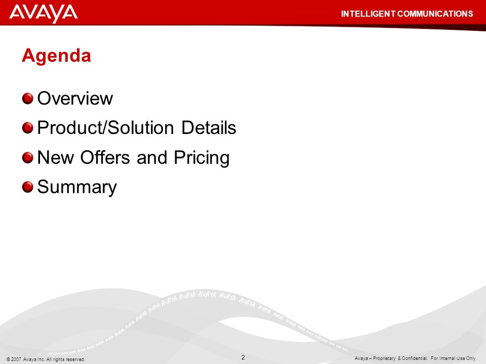 Product/Solution Details New Offers and Pricing Summary