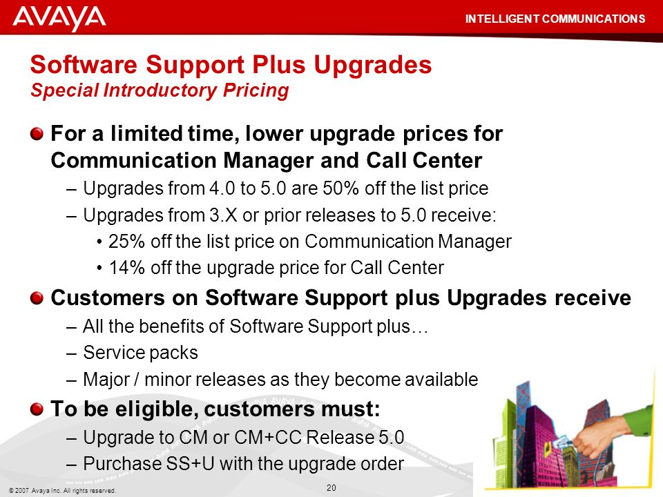 Software Support Plus Upgrades Special Introductory Pricing