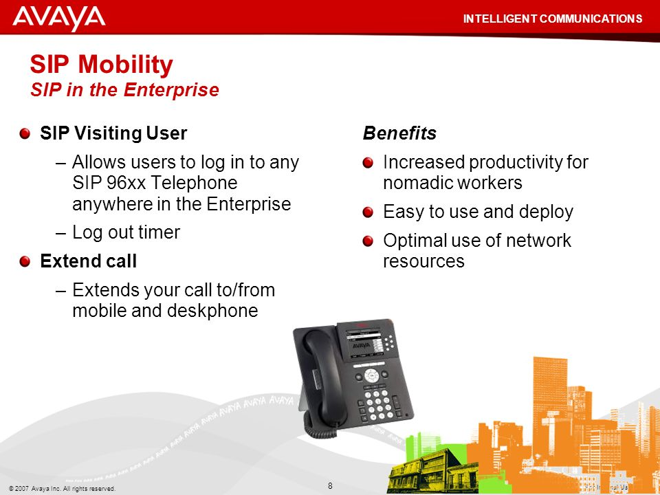 SIP Mobility SIP in the Enterprise