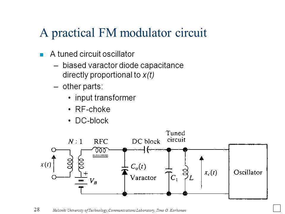 A practical FM modulator circuit