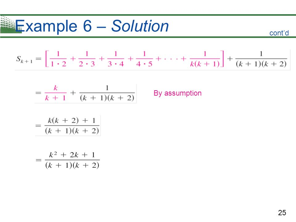 Example 6 – Solution cont'd By assumption