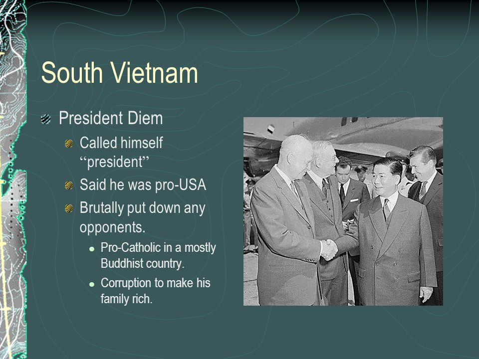 South Vietnam President Diem Called himself president