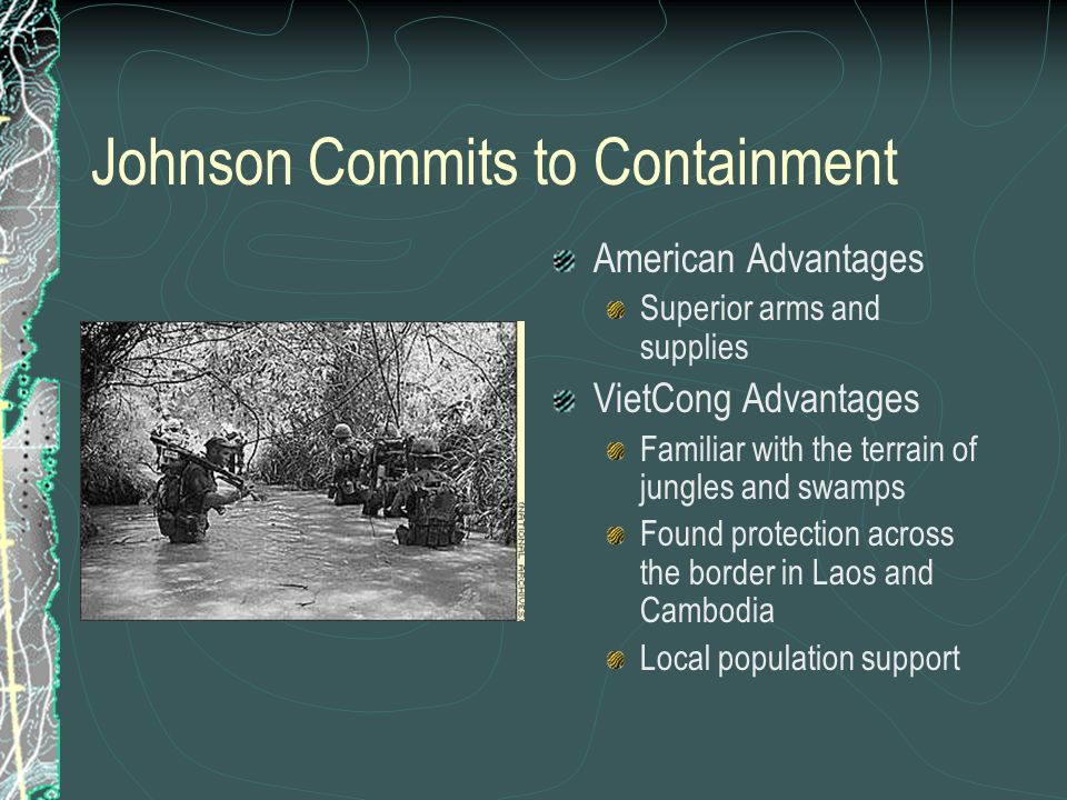 Johnson Commits to Containment