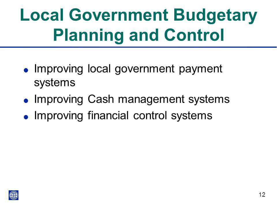 Local Government Budgetary Planning and Control