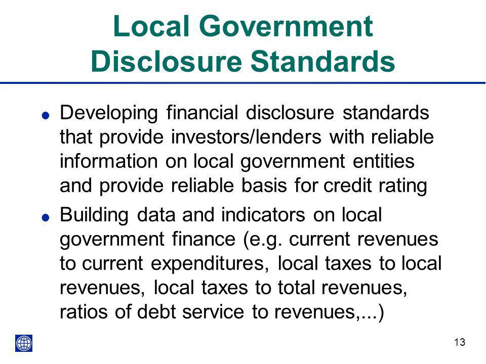 Local Government Disclosure Standards