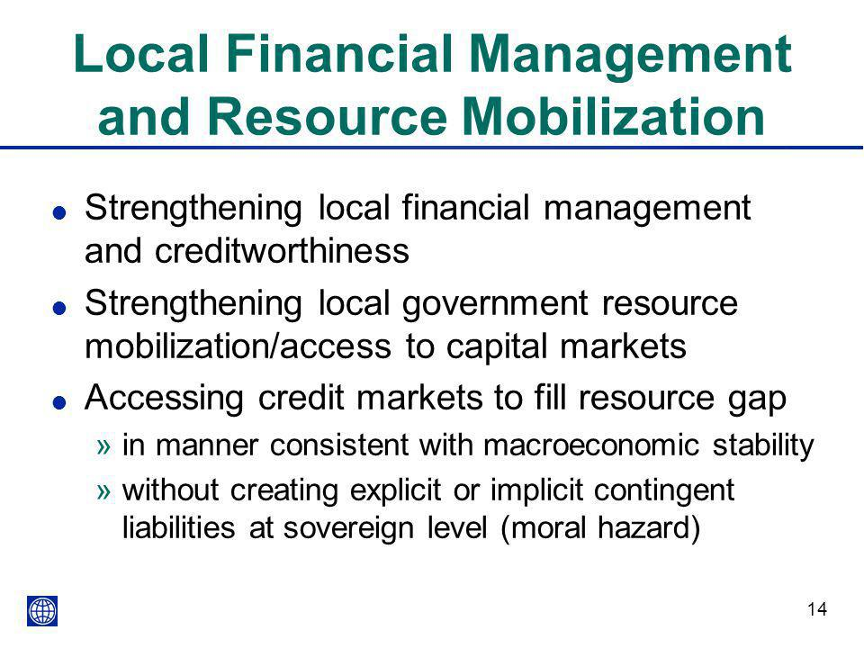 Local Financial Management and Resource Mobilization