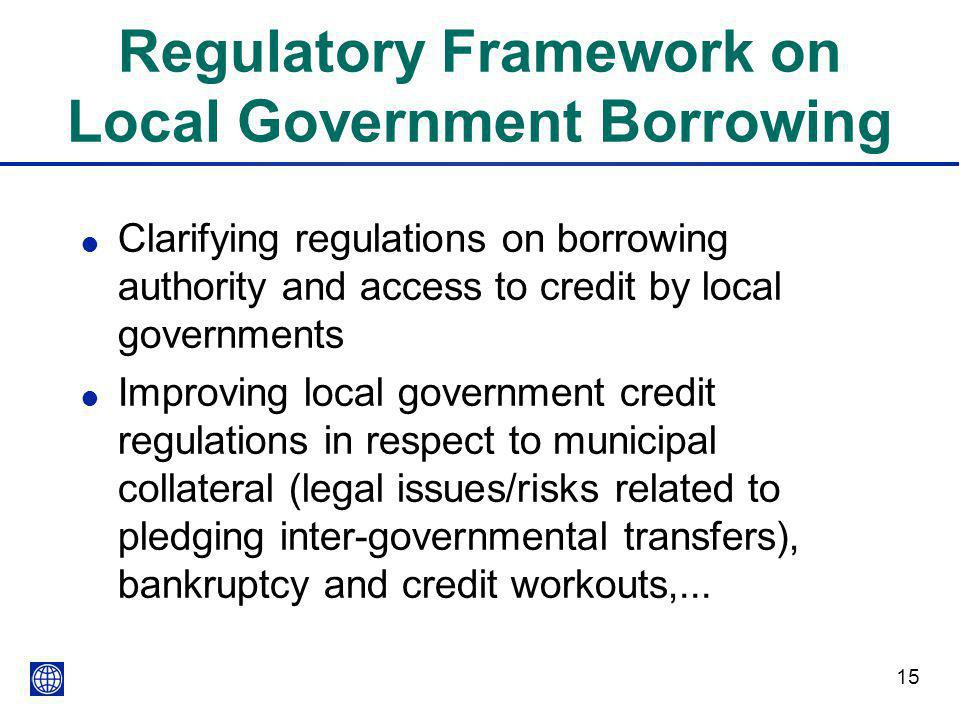 Regulatory Framework on Local Government Borrowing