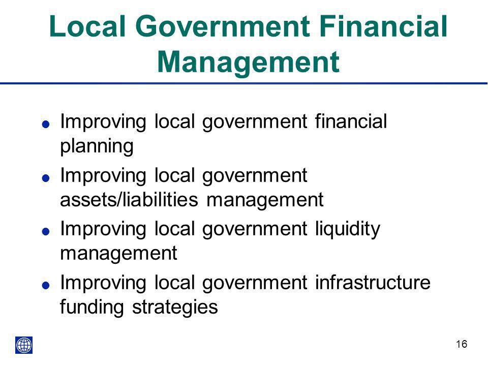 Local Government Financial Management