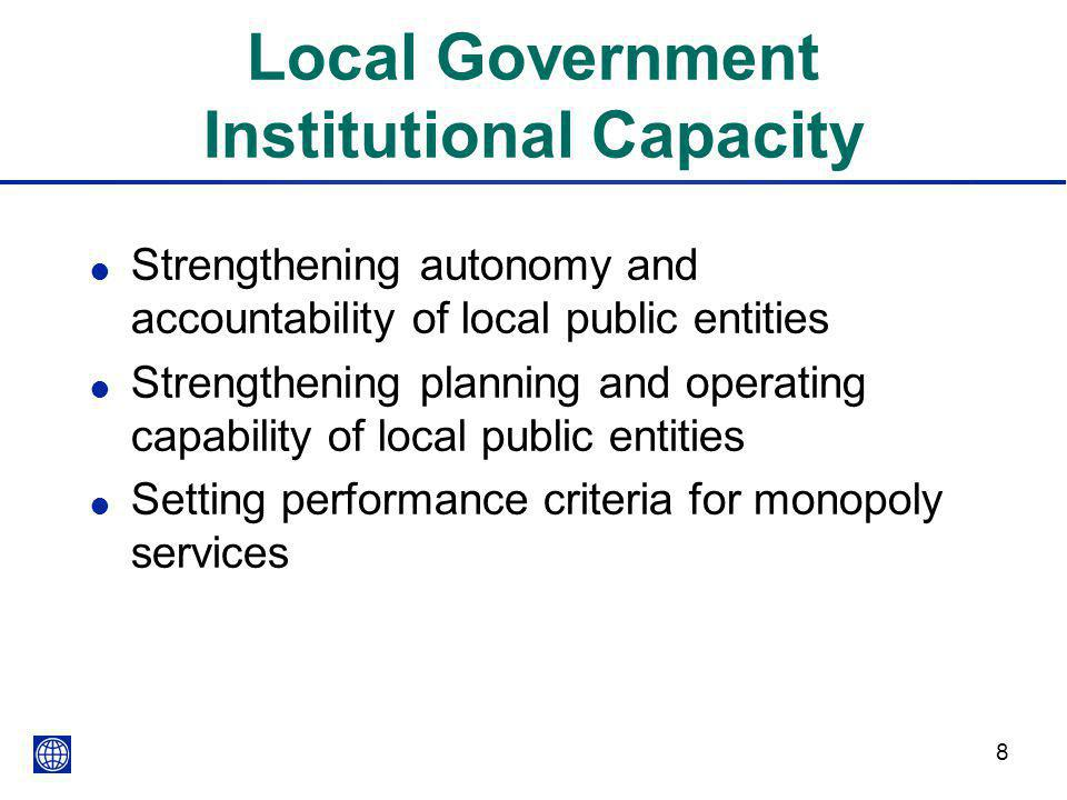 Local Government Institutional Capacity