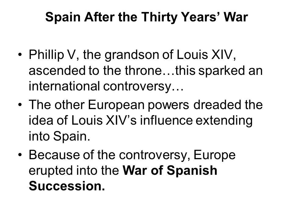 Spain After the Thirty Years' War
