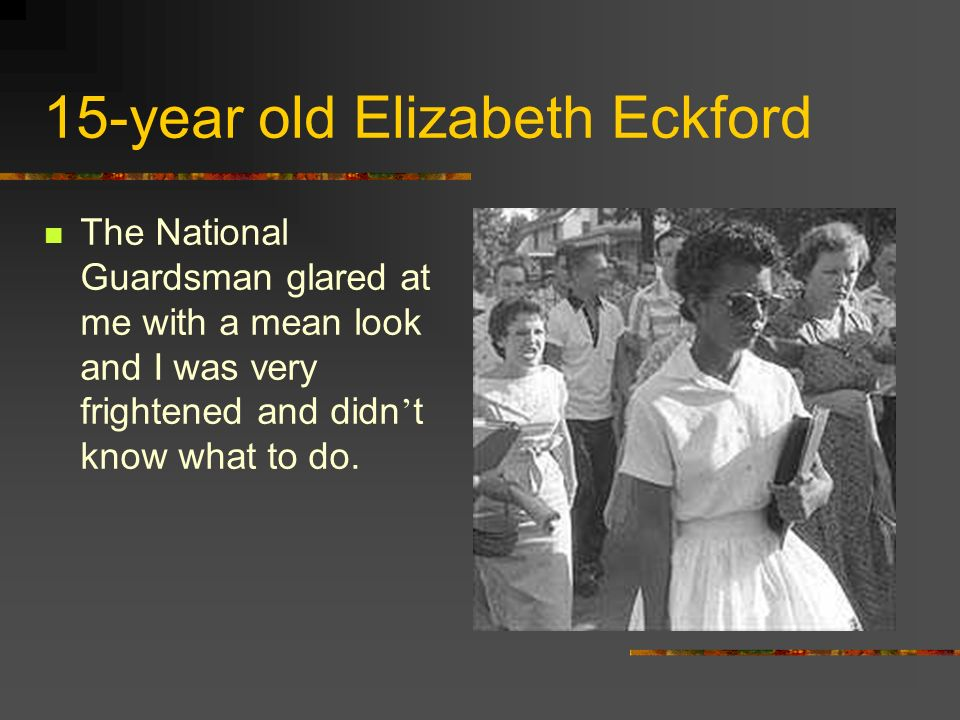 15-year old Elizabeth Eckford