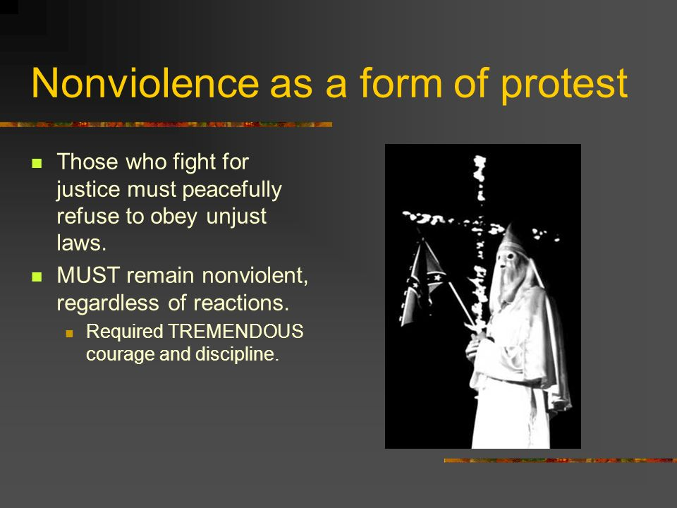 Nonviolence as a form of protest