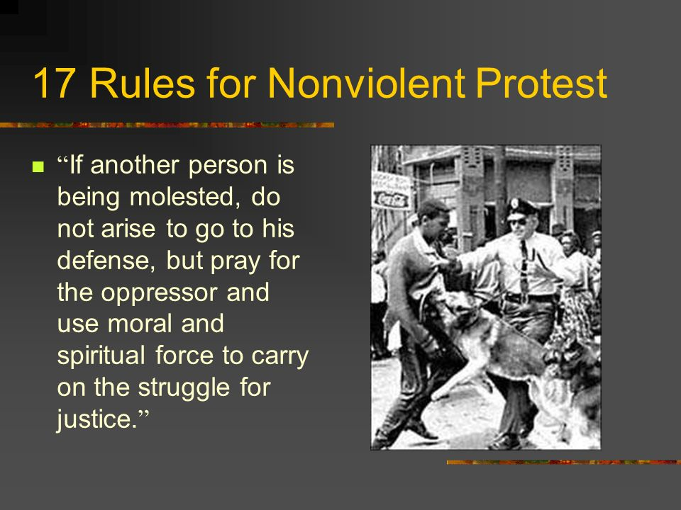 17 Rules for Nonviolent Protest