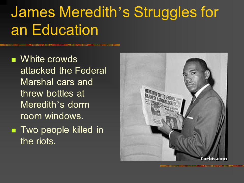 James Meredith's Struggles for an Education