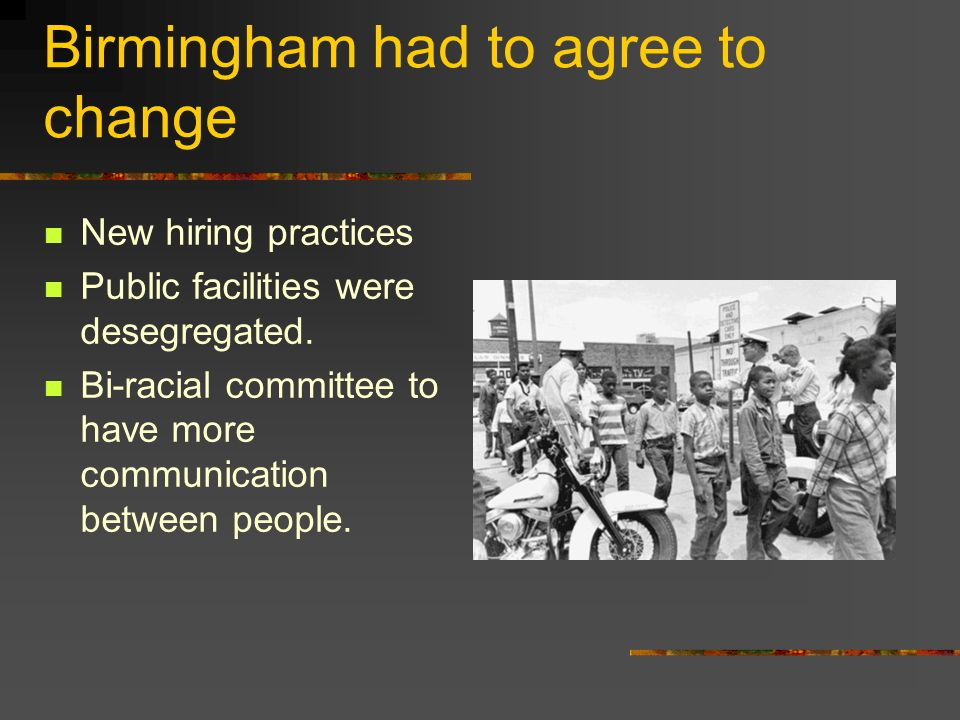 Birmingham had to agree to change