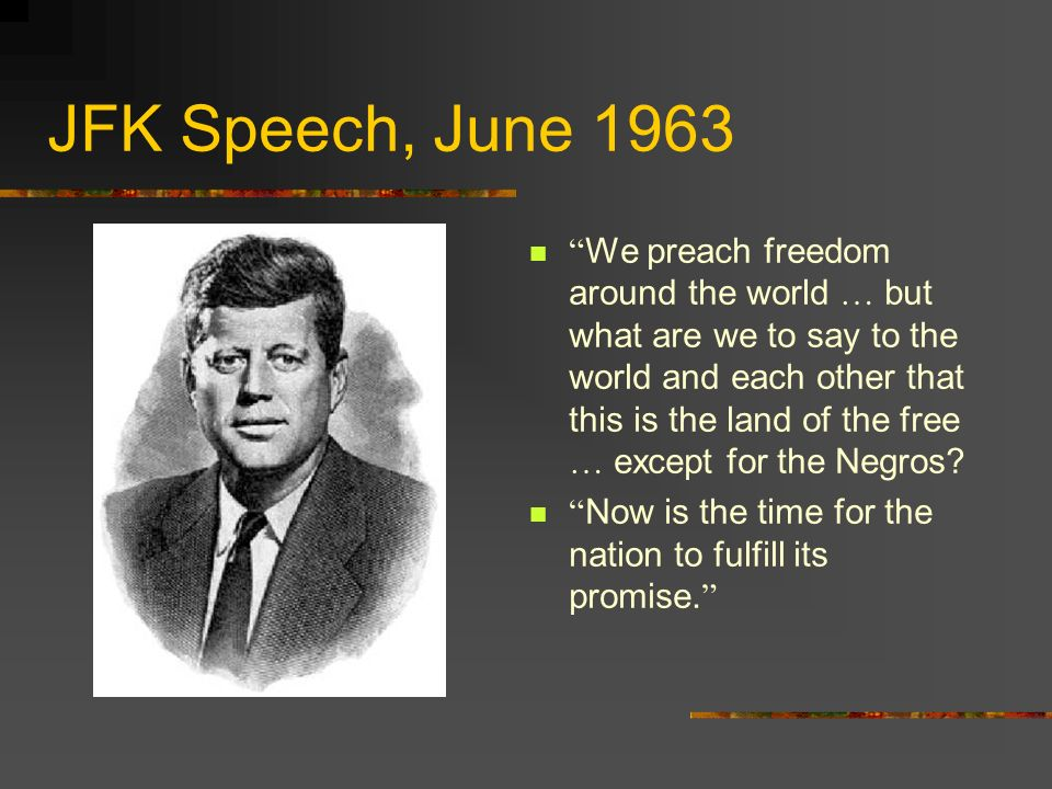 JFK Speech, June 1963