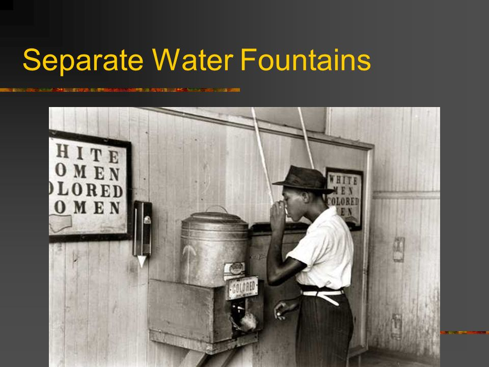 Separate Water Fountains