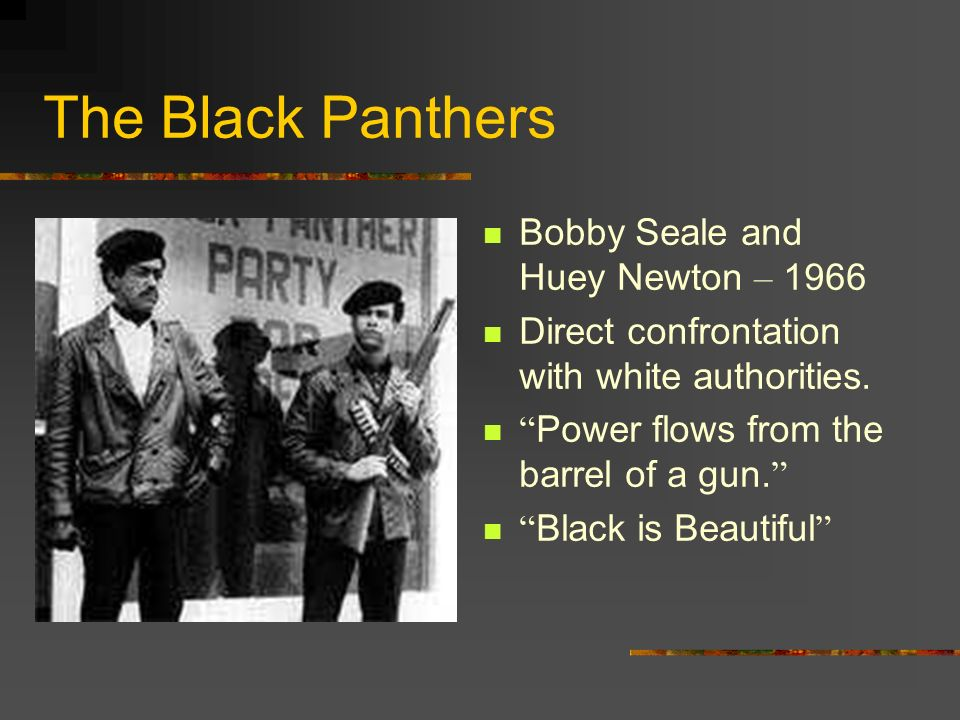 The Black Panthers Bobby Seale and Huey Newton – 1966