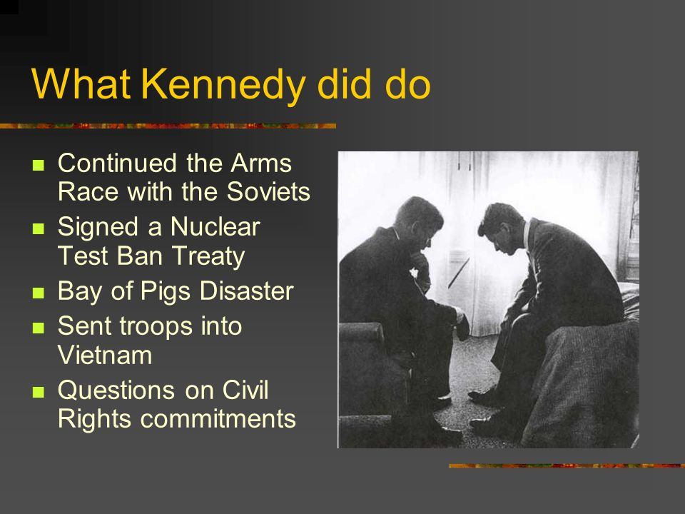 What Kennedy did do Continued the Arms Race with the Soviets