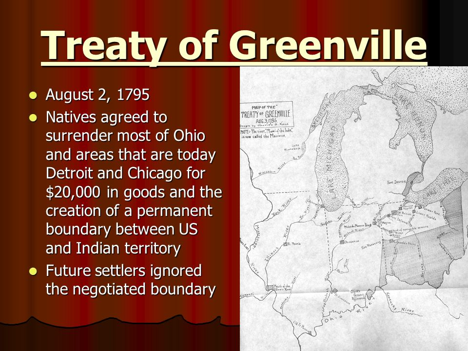 Treaty of Greenville August 2, 1795