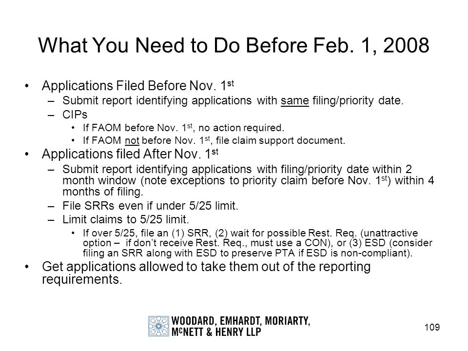 What You Need to Do Before Feb. 1, 2008
