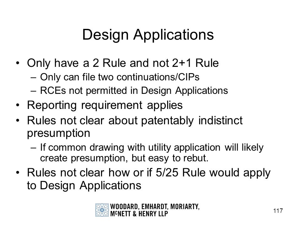 Design Applications Only have a 2 Rule and not 2+1 Rule