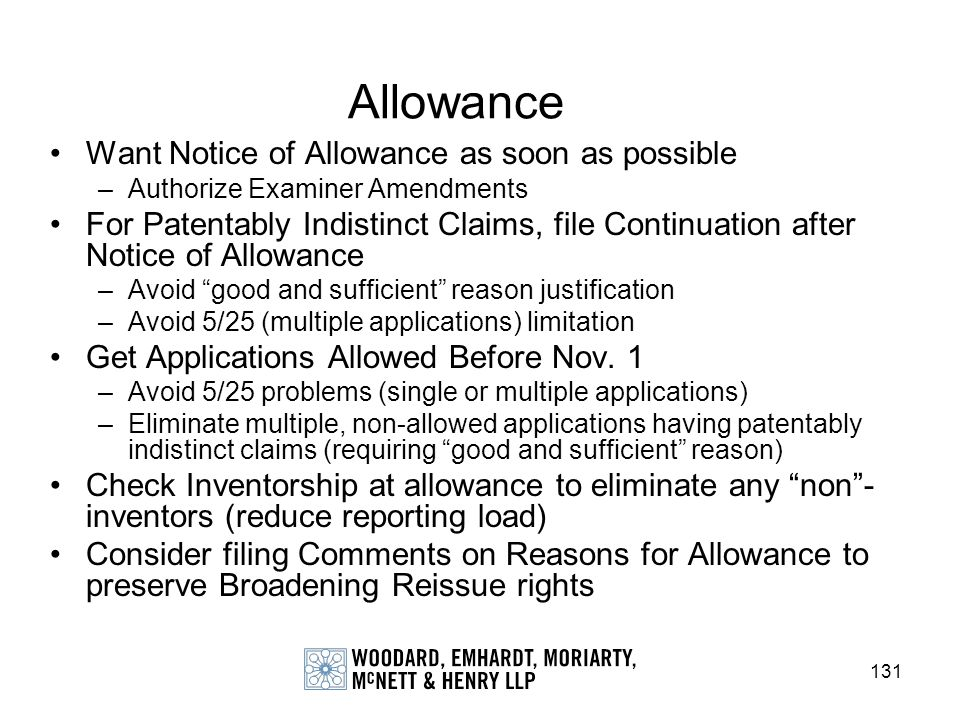 Allowance Want Notice of Allowance as soon as possible