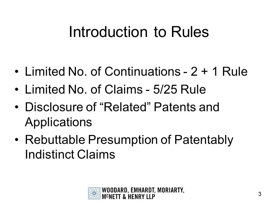 Introduction to Rules Limited No. of Continuations Rule