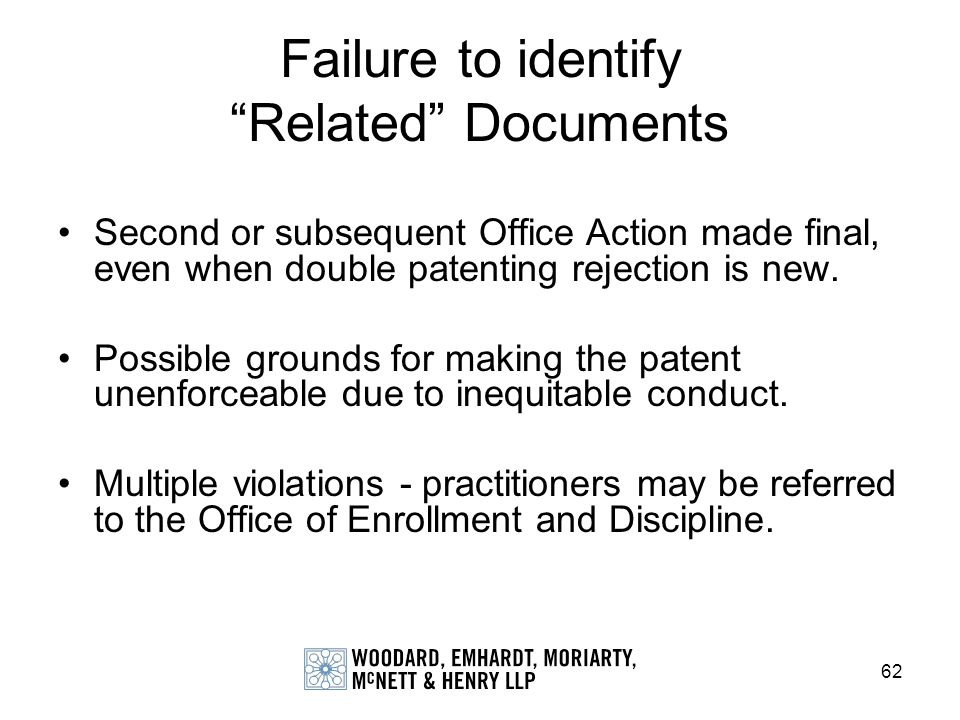 Failure to identify Related Documents