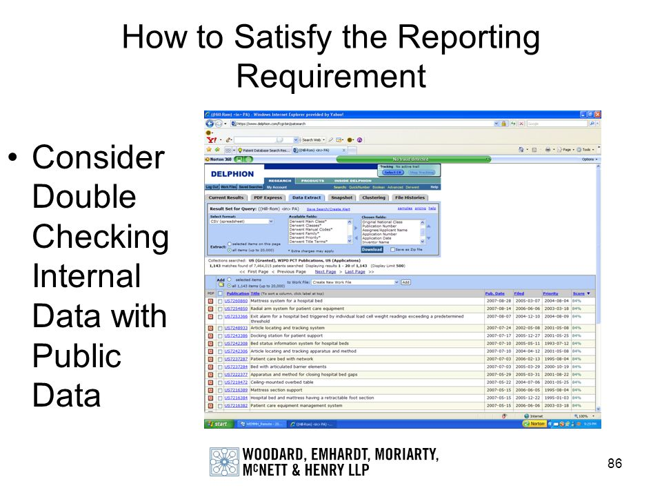 How to Satisfy the Reporting Requirement